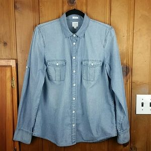 J. Crew Factory Chambray Button Down